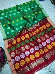 Ishan collection 5.5 m (separate blouse piece) Pure Handloom Saree, With Blouse Piece