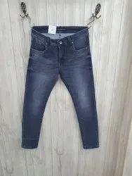 Casual Wear Zipper Men Ankle Length Jeans