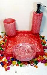 Resin Bathroom Set, Quantity Per Pack: 4pcs