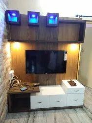 Ply Wood Designer Tv Unit, For Residential