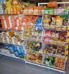 Custem Made Custme made Chips Display Rack, 5 Shelves, Size: 5*3*1.25
