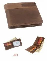 Genuine Leather Oily Hunter Wallet Rfid Protected