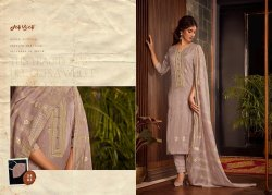 modal silk Unstitched Embroidery Suit, Dry clean