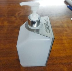 HDPE Square Dispenser bottle wall mount, Size: 1ltr