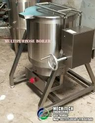 Steel Multi Purpose Cooker, Input Power Supply: Gas & Steam Operated