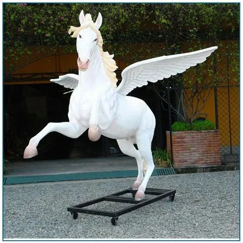 White FRP Decorative Horse Sculpture