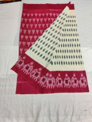 Party Wear Mesress cotton sarees pochampally, Without Blouse, 5.5 m