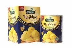 YFP Raj Bhog Sponge Rasgulla, Packaging Size: 1 Kg, Packaging Type: Tin Container