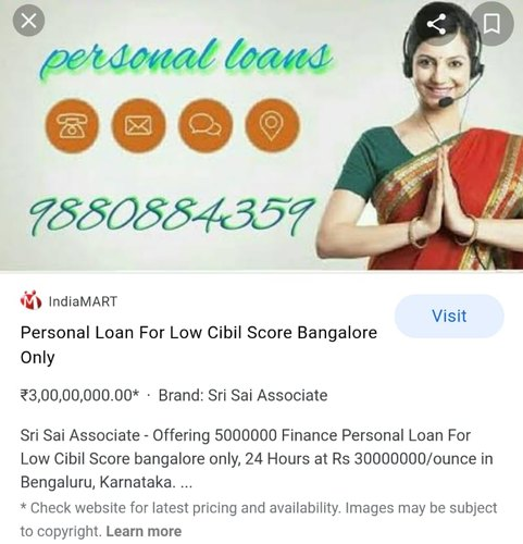 5000000 Finance Personal Loan For Low Cibil Score Bangalore Only 24 Hours Id 19119562455