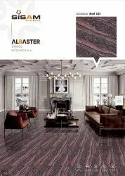 Glossy Double Charge Albester Red Vitrified Floor Tiles, Size: 60 * 60 In cm