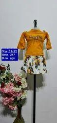 AGS Half  Sleeves Kids Skirt Top