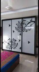 Partition Doors Wardrobe Sliding Door Glass, For Home, Interior