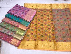 Happy Prints 6.30 Meter Printed Banarasi Saree, With Blouse Piece