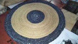 Round Jute Braided Rugs, 60x60 90x90 120x120cm