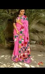 Khesh Cotton Patchwork Sarees