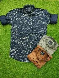 Mascot Casual Wear Mens Cotton Shirts
