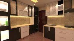 Bedroom Interior Modern Modular Kitchen, Work Provided: Wood Work & Furniture