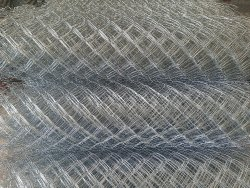 Silver Galvanized Iron Chain Link Fencing, Material Grade: 90 Gsm