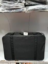 Black Checks matty 30 Inches Half Fiber Suitcase