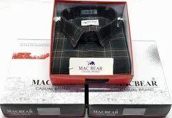 Collar Neck Mac Bear Check Shirt