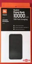 Black Mi Xiomi Redmi Power Bank 10000 Mah, Advanced Chip Protection, Battery Type: Lithium Polymer