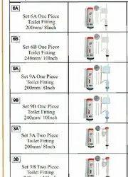 orange White Toilet Seat Fittings, For Bathroom Fitting, Dimension: 8, 10