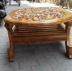 Wooden Designer Heavy Carving Centre Table