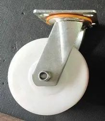6x2 swivel caster with white wheel
