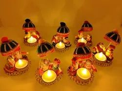 Multicolor Tribal Home Decoration Pieces, Dust With Dry Cloth, Packaging Type: Box Packing