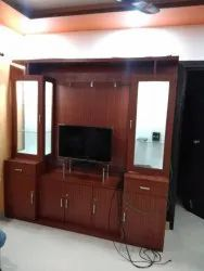Ply Wood Free Unit Tv Cabinet, For Residential