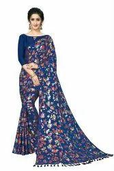 Party Wear Designer Saree, Without blouse piece, 5.5 m (separate blouse piece)