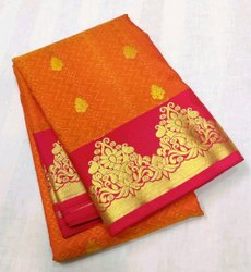 Embouse Butta Resham Mini Kanchi Silk Saree, 6.3 m (with blouse piece)