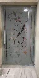 Hinged Plain Frameless Glass Door, Thickness: 8 Mm