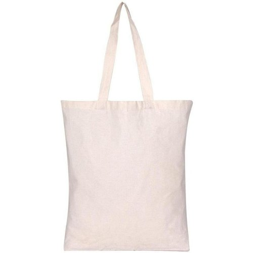 Gray ( Off White ) Printed Stitched Cotton Fabric Bags, Capacity: 5kg To 7kg