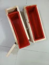 Rectangular Wooden box with silicon loaf liner, For Soap Making