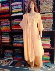 Aadhya Textiles A-Line Party Wear Suit, Handwash