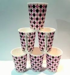 210 Ml Diamond Printed Disposable Paper Cups