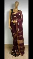 Linen Embroidered Sarees