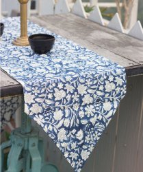Hand Block Printed Cotton Canvas Jall Printed Table Runner