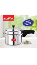 Non-inductionbase Silver Pressure Cooker, For Home, Size: 3 Litres