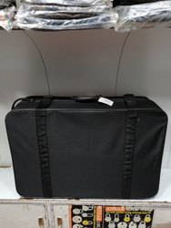 Black Checks Matty 32 Inches Half Fiber Suitcase