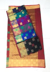 Monika Yarn Solder Saree, With Blouse Piece, 6.3 Mtr