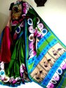 Hand Painted Tussar Silk Saree