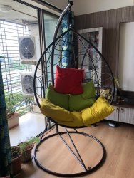 Ganpati Metal Cross Back Chair, For Cafe
