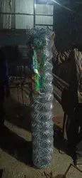 Silver Galvanized Iron KISSAN brand chain link fencing compakt, For Hevi Diuti, Material Grade: G I