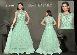 Wedding Wear Women Long Dress, Size: L, Xl