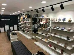 MDF Slatwall Shoes Display