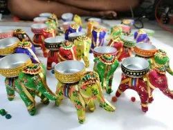 Multicolor Round Elephant Candle