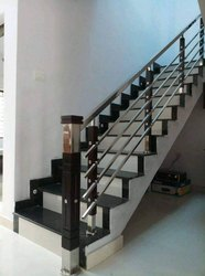 Bar Silver SS Railing, For Interior And Exterior, For Home