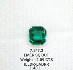 Cg412 Natural Emerald Facited Square Octagon For Ring Astrology Jewellery